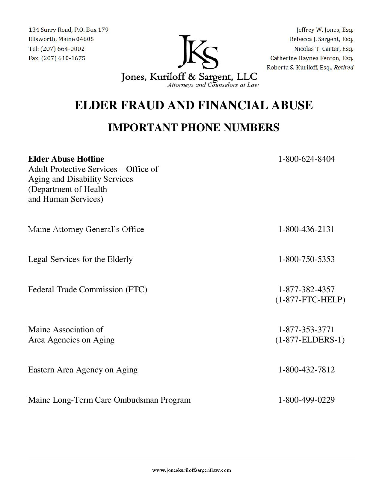 Elder Abuse Phone Numbers 20160519-page-001
